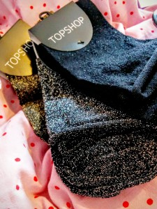 Topshop glittery socks