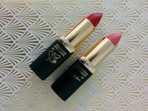 L'Oreal Color Riche - Naomi's Delicate Pink & Eva's True Red