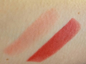 L'Oreal Color Riche - Naomi's Pink & Eva's Red swatches