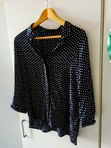 Zara navy spot shirt