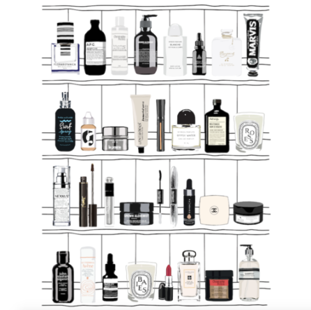 beauty-products-art-print